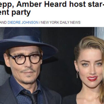 Johnny Depp, Amber Heard host star-studded engagement party NY Daily News