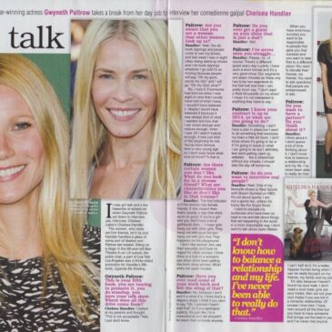 Gwyneth Paltrow Interviews Chelsea Handler </br> TV Soap