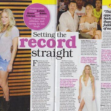 Setting The Record Straight LeAnn Rimes & Eddie  Cibrian TV Soap Magazine