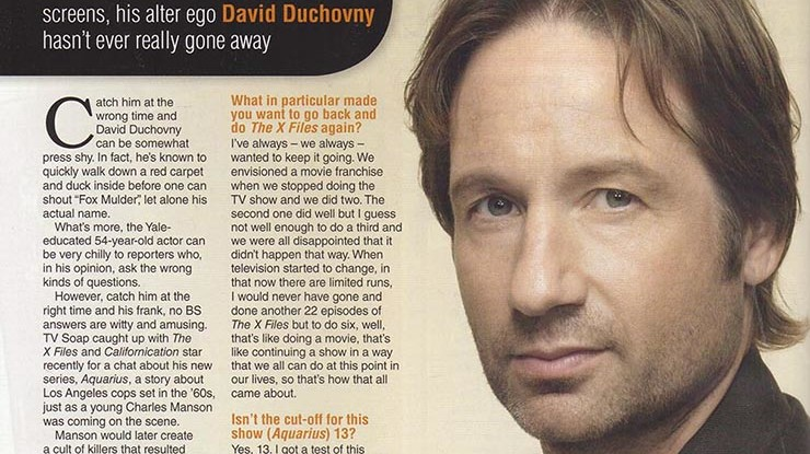 David Duchovny – Still Out There  TV Soap