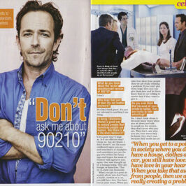 Luke Perry &#8220;Don&#8217;t ask me about 90210.&#8221;  </br>TV Soap