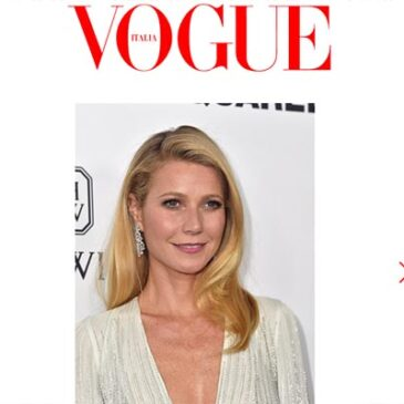 Gwyneth Paltrow: Finding The Time to Be Fabulous Vogue Italia